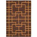 "Nourison Maze Area Rug 5'3"" X 7'5"" - Item Number: 19025"