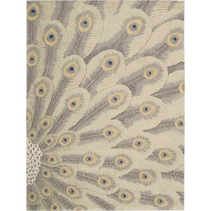 "Nourison Moda 5'6"" x 7'5"" Chrome Area Rug"