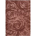 "Nourison Moda 5'6"" x 7'5"" Blush Area Rug - Item Number: 10842"