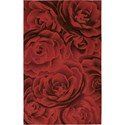"Nourison Moda 5'6"" x 7'5"" Crimson Area Rug - Item Number: 10843"