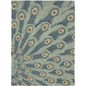 "Nourison Moda 7'6"" x 9'6"" Peacock Area Rug - Item Number: 13900"