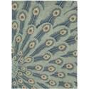 Nourison Moda 8' x 11' Peacock Area Rug - Item Number: 13901