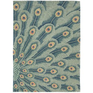 "Nourison Moda 5'6"" x 7'5"" Peacock Rectangle Rug"