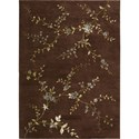 "Nourison Modern Elegance 3'6"" x 5'6"" Brown Area Rug - Item Number: 04576"