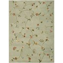 Nourison Modern Elegance 8' x 11' Sage Rectangle Rug - Item Number: LH02 SAG 8X11