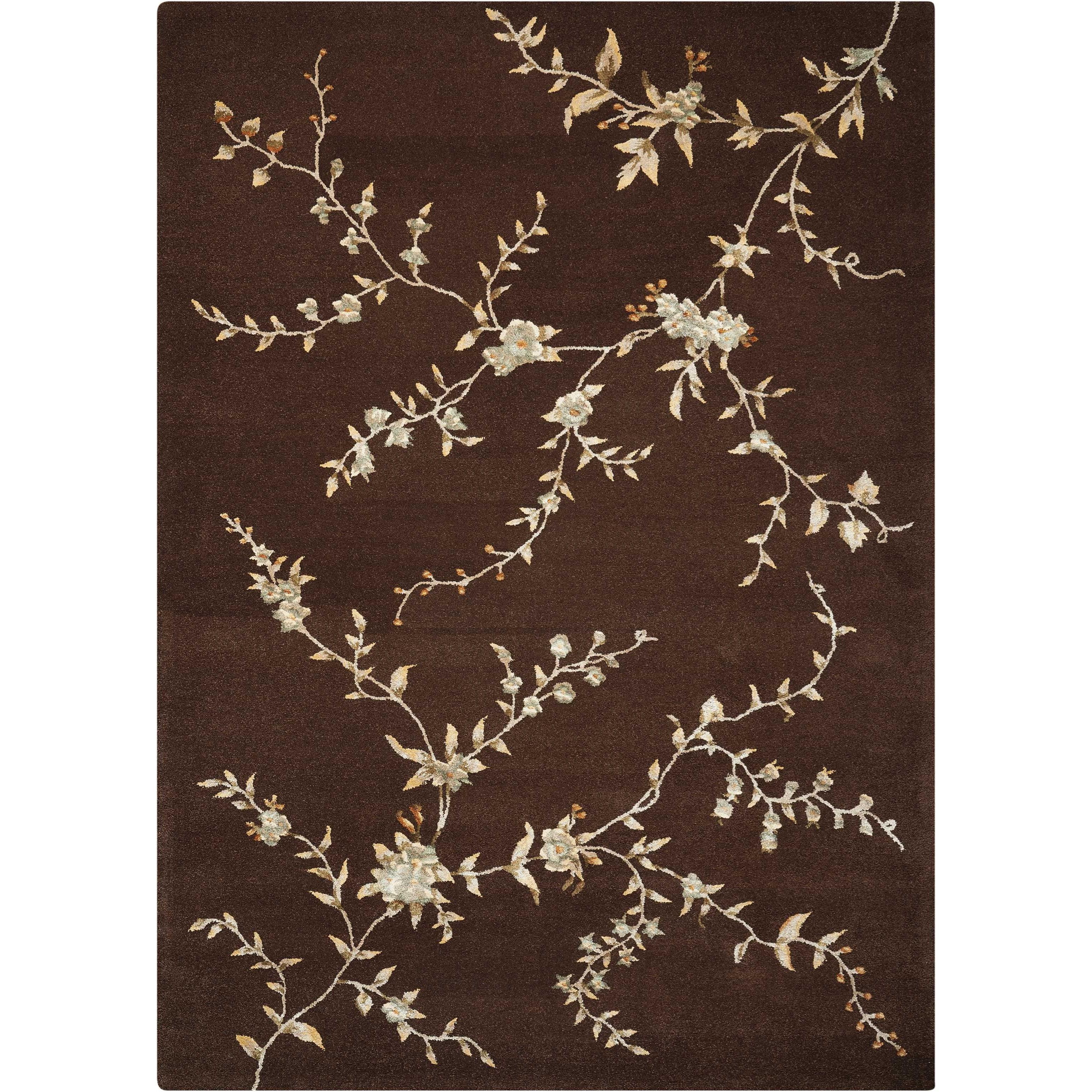 """Nourison Modern Elegance 5'6"""" x 7'5"""" Brown Rectangle Rug - Item Number: LH06 BRN 56X75"""