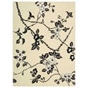 Nourison Modern Elegance 8' x 11' Black/White Rectangle Rug - Item Number: LH08 BKW 8X11
