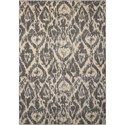 """Nourison Nepal 3'6"""" x 5'6"""" Graphite Rectangle Rug - Item Number: NEP07 GRAPH 36X56"""