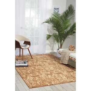 "Nourison Nepal 9'6"" x 13'6"" Mocha Rectangle Rug"