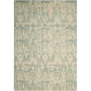 "Nourison Nepal 3'6"" x 5'6"" Seafoam Rectangle Rug"
