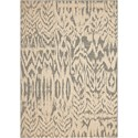 """Nourison Nepal 3'6"""" x 5'6"""" Iv/Grey Rectangle Rug - Item Number: NEP10 IVGRY 36X56"""