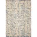 "Nourison Nepal 7'9"" x 10'10"" Ivory Blue Rectangle Rug - Item Number: NEP11 IVBLU 79X1010"