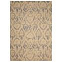 """Nourison Nepal 3'6"""" x 5'6"""" Beige/Slate Rectangle Rug - Item Number: NEP12 BGSLT 36X56"""