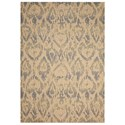 """Nourison Nepal 7'9"""" x 10'10"""" Beige/Slate Rectangle Rug - Item Number: NEP12 BGSLT 79X1010"""