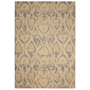 "Nourison Nepal 9'6"" x 13'6"" Beige/Slate Rectangle Rug"