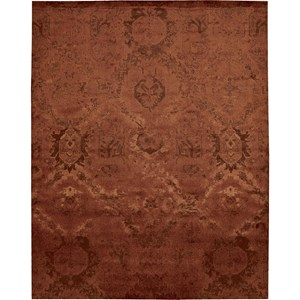 "Nourison Nightfall 5'6"" x 8' Flame Area Rug"
