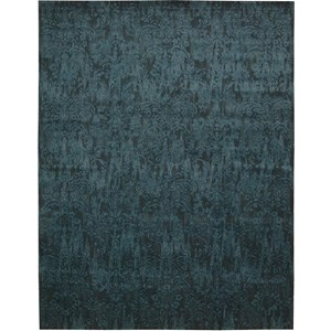"Nourison Nightfall 8'6"" x 11'6"" Peacock Area Rug"