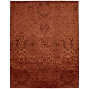 "Nourison Nightfall1 5'6"" X 8' Flame Rug"