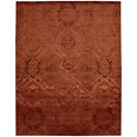"Nourison Nightfall1 7'9"" X 9'9"" Flame Rug - Item Number: NGT01 FLAME 79X99"