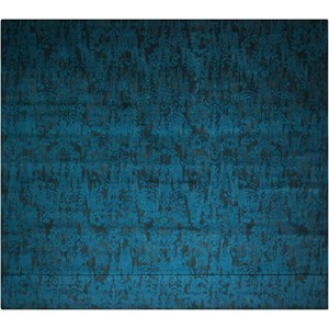 "Nourison Nightfall1 8'6"" X 11'6"" Peacock Rug"