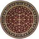 Nourison Nourison 2000 8' x 8' Burgundy Round Rug