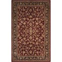 "Nourison Nourison 2000 9'9"" x 13'9"" Burgundy Rectangle Rug - Item Number: 2002 BUR 99X139"