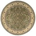 Nourison Nourison 2000 8' x 8' Olive Round Rug - Item Number: 2003 OLI 8X8
