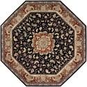 Nourison Nourison 2000 10' x 10' Black Octagon Rug - Item Number: 2005 BLK 10X10