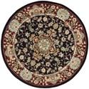 Nourison Nourison 2000 4' x 4' Black Round Rug - Item Number: 2005 BLK 4X4