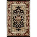 "Nourison Nourison 2000 5'6"" x 8'6"" Black Rectangle Rug - Item Number: 2005 BLK 56X86"