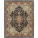 "Nourison Nourison 2000 7'9"" x 9'9"" Black Rectangle Rug - Item Number: 2005 BLK 79X99"