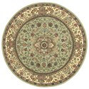 Nourison Nourison 2000 6' x 6' Light Green Round Rug - Item Number: 2005 LTG 6X6