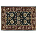 Nourison Nourison 2000 2' x 3' Black Rectangle Rug - Item Number: 2017 BLK 2X3