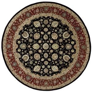 8' x 8' Black Round Rug