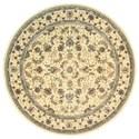 Nourison Nourison 2000 8' x 8' Ivory Round Rug - Item Number: 2023 IV 8X8