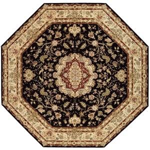 10' x 10' Black Octagon Rug