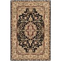 "Nourison Nourison 2000 3'9"" x 5'9"" Black Rectangle Rug - Item Number: 2028 BLK 39X59"