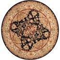Nourison Nourison 2000 6' x 6' Black Round Rug - Item Number: 2028 BLK 6X6