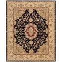 "Nourison Nourison 2000 8'6"" x 11'6"" Black Rectangle Rug - Item Number: 2028 BLK 86X116"
