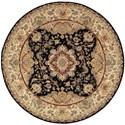 Nourison Nourison 2000 8' x 8' Black Round Rug - Item Number: 2028 BLK 8X8