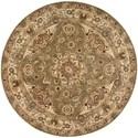 Nourison Nourison 2000 4' x 4' Olive Round Rug - Item Number: 2028 OLI 4X4