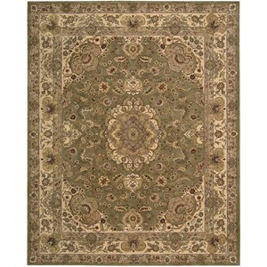 "Nourison Nourison 2000 7'9"" x 9'9"" Olive Rectangle Rug"