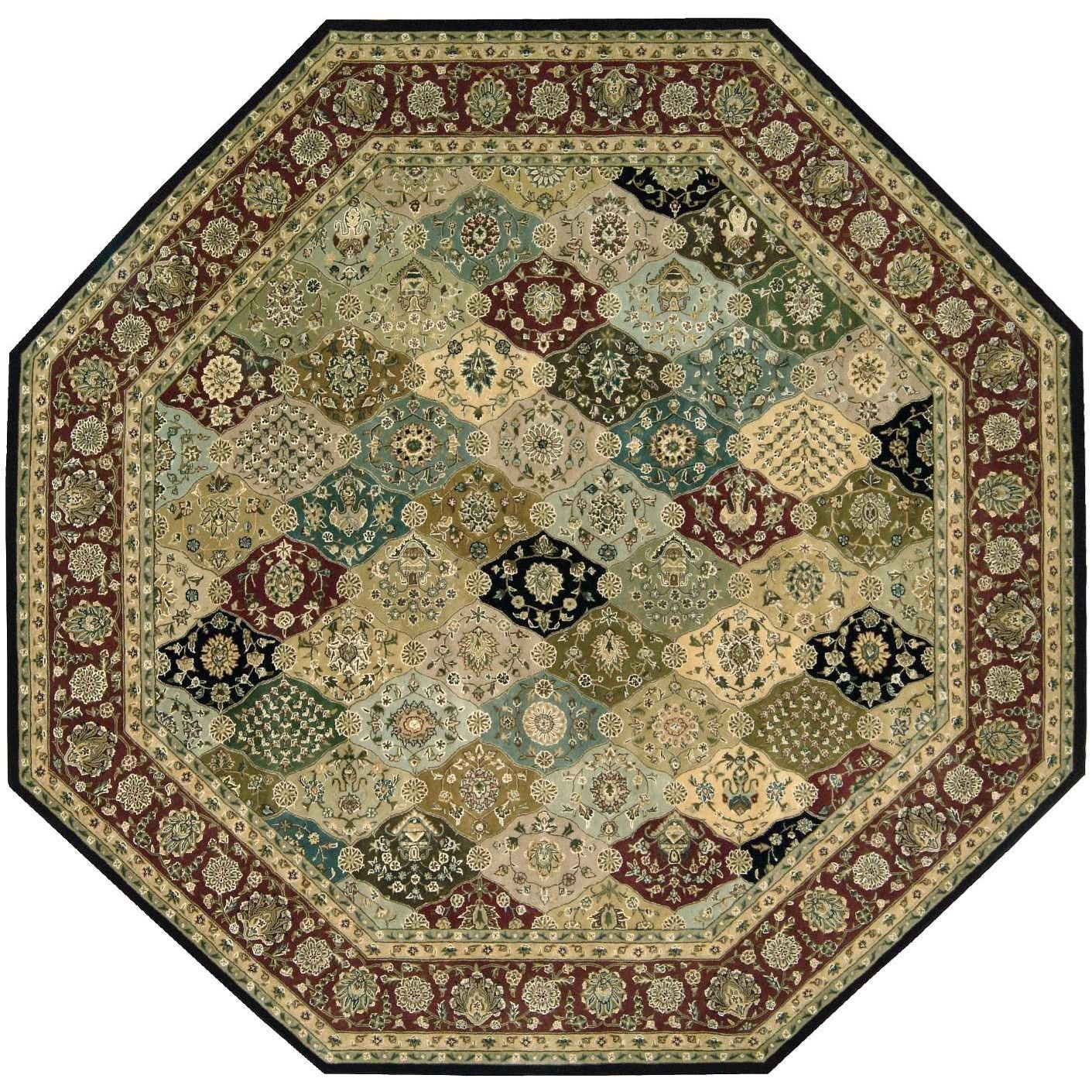 10' x 10' Multicolor Octagon Rug