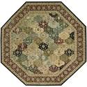 Nourison Nourison 2000 10' x 10' Multicolor Octagon Rug - Item Number: 2101 MTC 10X10
