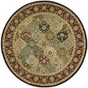 Nourison Nourison 2000 6' x 6' Multicolor Round Rug - Item Number: 2101 MTC 6X6