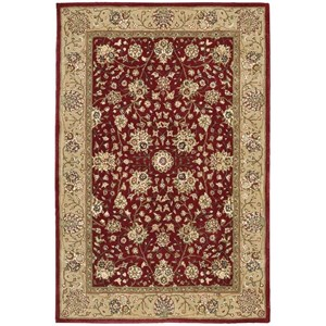 "Nourison Nourison 2000 3'9"" x 5'9"" Burgundy Rectangle Rug"