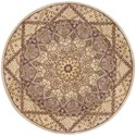 Nourison Nourison 2000 4' x 4' Lavender Round Rug - Item Number: 2117 LAV 4X4