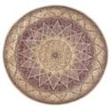 Nourison Nourison 2000 8' x 8' Lavender Round Rug - Item Number: 2117 LAV 8X8