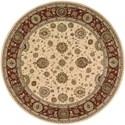 Nourison Nourison 2000 8' x 8' Ivory Round Rug - Item Number: 2204 IV 8X8
