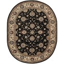 "Nourison Nourison 2000 7'6"" x 9'6"" Midnight Oval Rug - Item Number: 2204 MID 76X96"